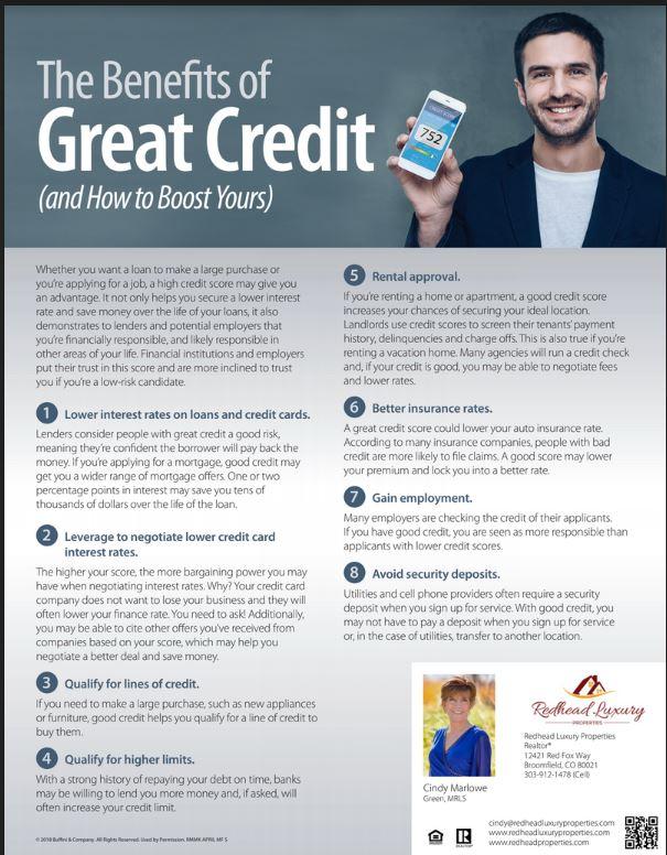 RedHead Luxury Properties - Benefits of Great Credit