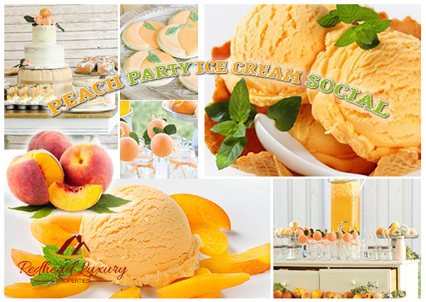 Peach Party Ice Cream Social