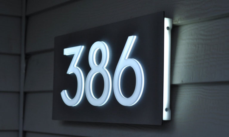 Solar-powered house numbers make your property stand out.